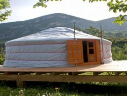 Unusual holidays in a yurt in the south of France. near Saint May